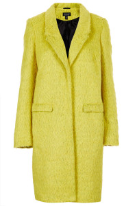 Topshop Fluffy Boyfriend Coat