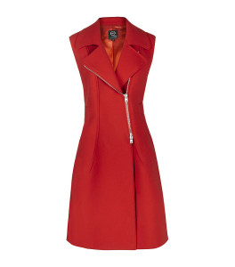 Alexander McQueen Asymmetric Zip Sleeveless Coat