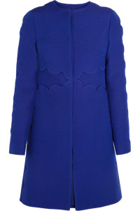Valentino Scalloped Wool and Silk-blend Coat