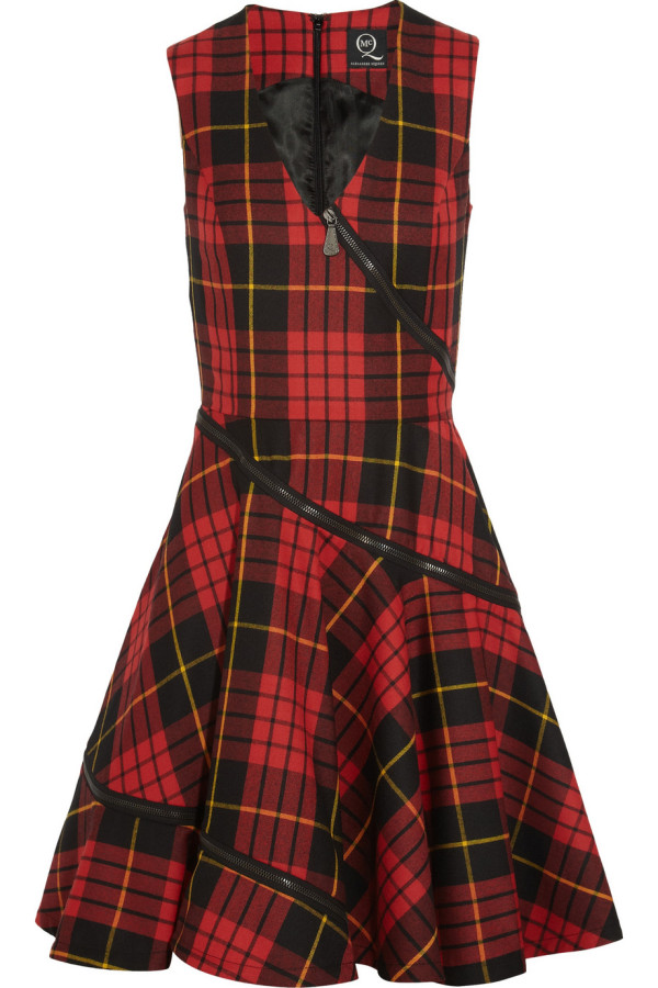 MCQ ALEXANDER McQUEEN Tartan Wool Dress buy HERE