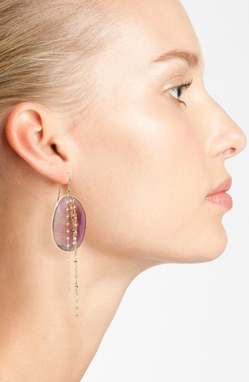 LANA JEWELRY Stone 'Gold Sapphire' Cascade Earings buy HERE