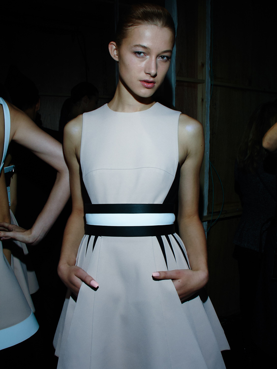 David Koma SS14, backstage (Billa Baldwin)