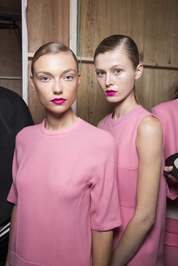 J. JS Lee SS14, backstage (British Fashion Council) 2