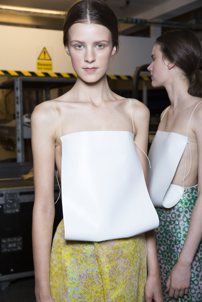 J. W. Anderson SS14, backstage (British Fashion Council)