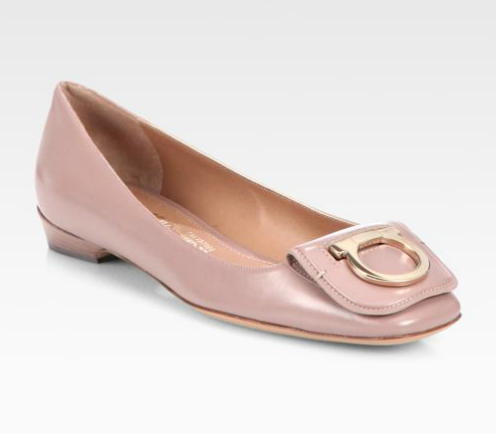 SALVATORE FERRAGAMO Rebi Leather Ballet Flats buy HERE