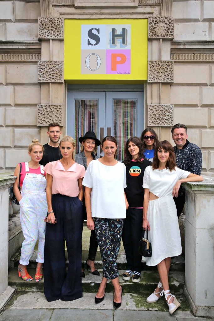 Sophia Webster, Rob Storey, Laura Bailey, Zoë Jordan, Caroline Rush, Bella Freud, Lulu Kennedy, Alexa Chung & Markus Lupfer (British Fashion Council)
