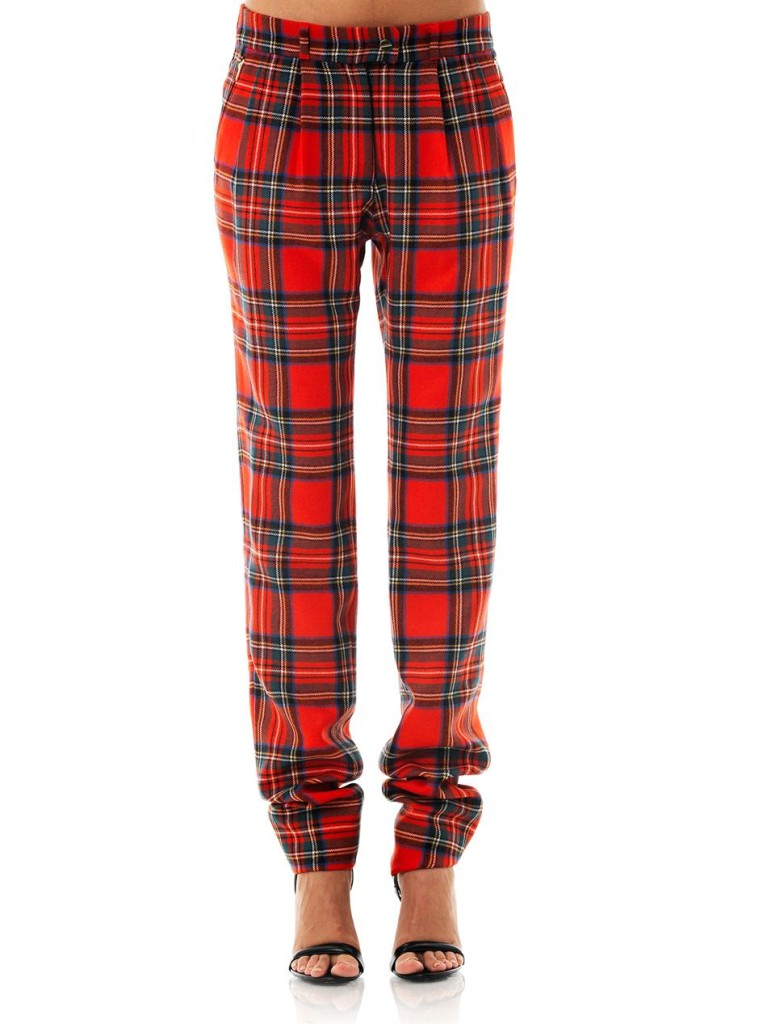 PREEN Bo Tartan Wool Trousers buy HERE
