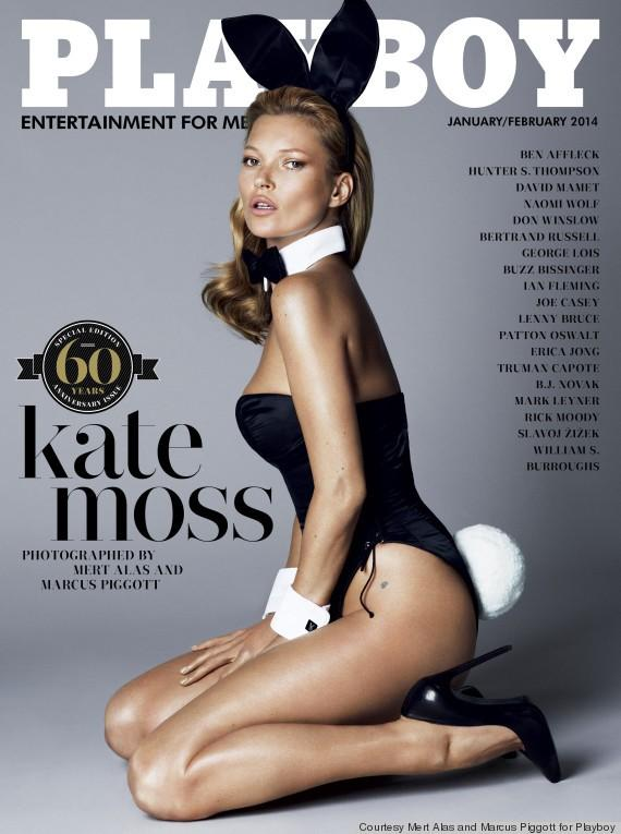 Playboy January 2014 Cover with Kate Moss
