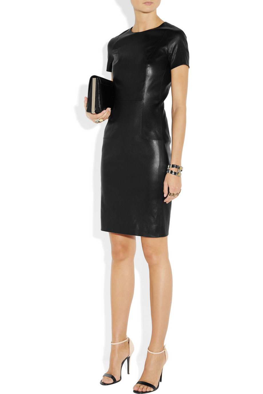 THE ROW Wonlo Paneled Stretch Leather Dress buy HERE