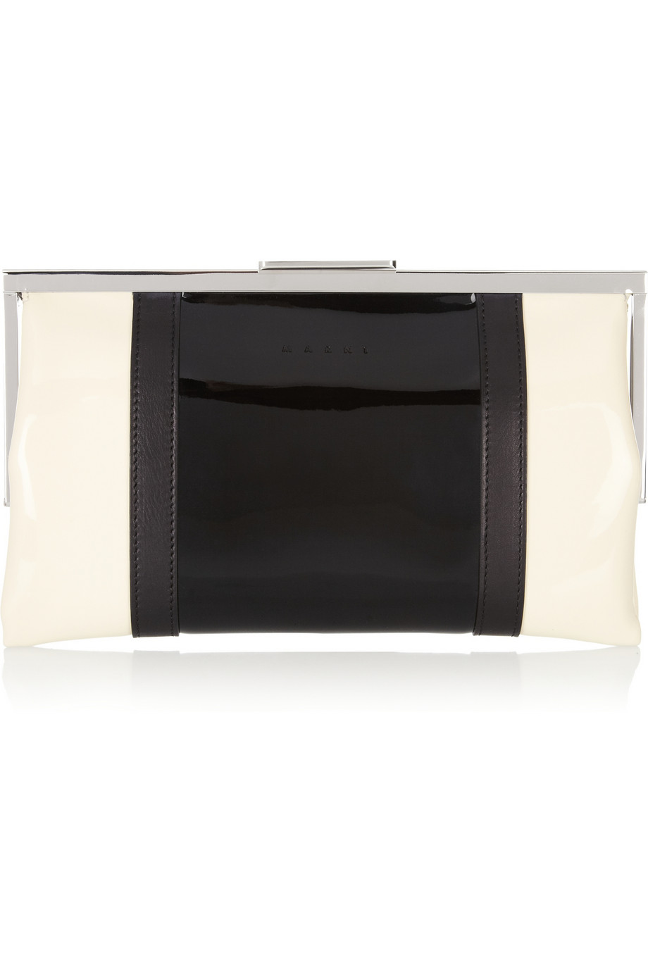MARNI  Two Tone Faux Patent Leather Clutch buy HERE
