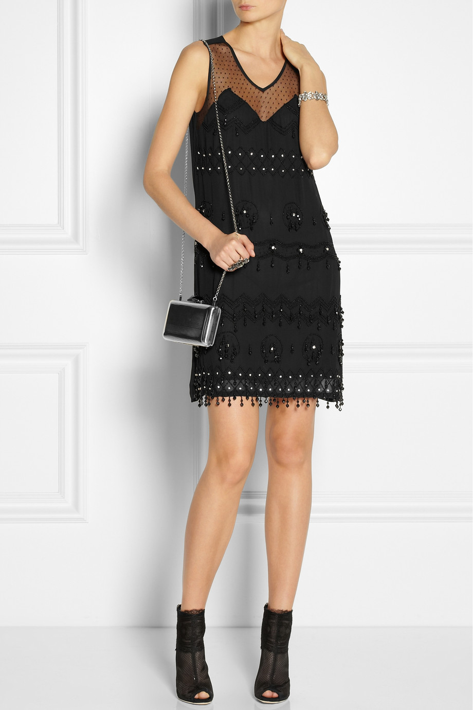ANNA SUI Embellished Georgette Dress buy HERE