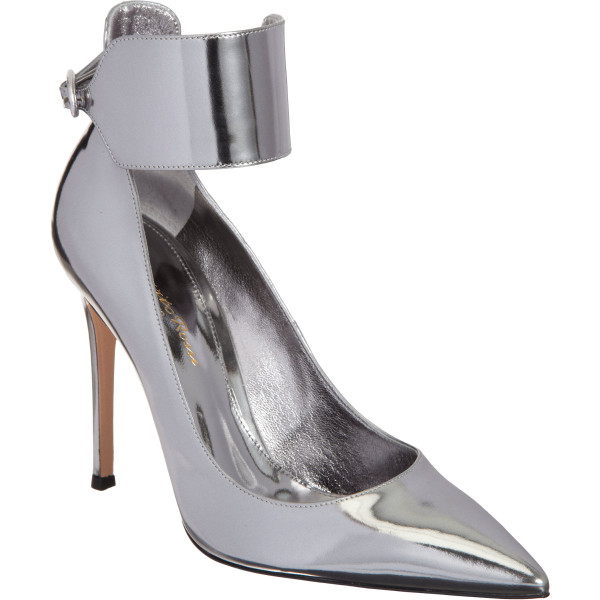 GIANVITO ROSSI  Metallic Ankle Cuff Pump buy HERE