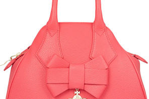 VIVIENNE WESTWOOD Yasmine Leather Bow Tote Bag