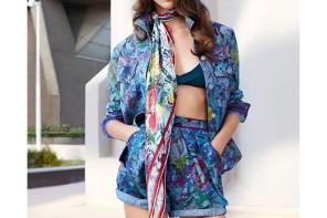 Anastasia Lagune for Leonard Paris SS/15