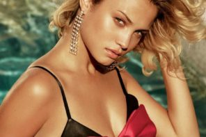 Rose Bertram at IMG for GUESS Marciano FW17 Campaign