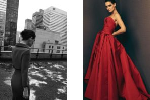 Katie Holmes for Zac Posen Collection SS18