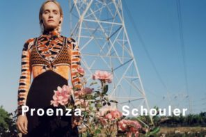 Amber Valletta at IMG for Proenza Schouler FW18 Campaign