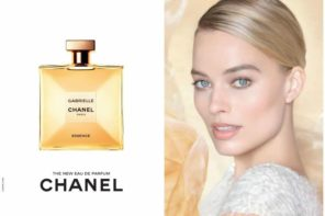 Actress Margot Robbie by Nick Knight for Chanel Gabrielle Fragrance FW19